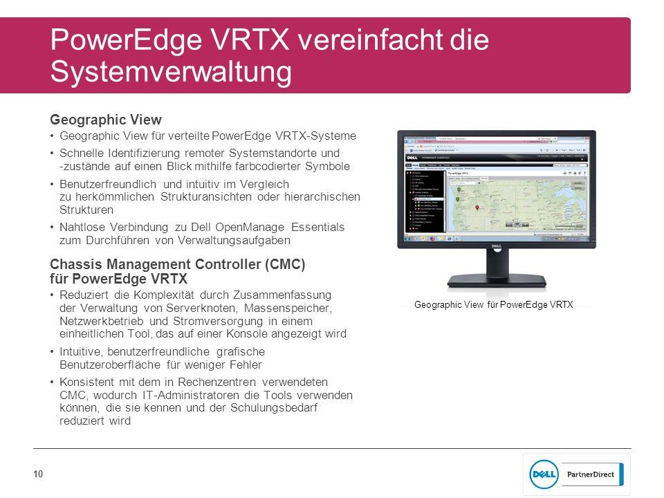PowerEdge VRTX vereinfacht die Systemverwaltung
