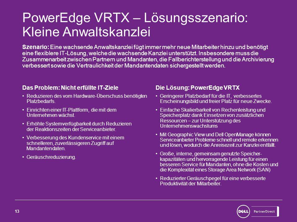 PowerEdge VRTX – Lösungsszenario: Kleine Anwaltskanzlei