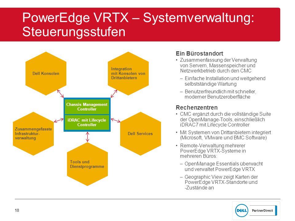 PowerEdge VRTX – Systemverwaltung: Steuerungsstufen