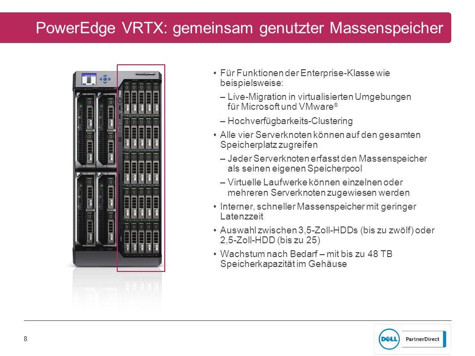 PowerEdge VRTX: gemeinsam genutzter Massenspeicher