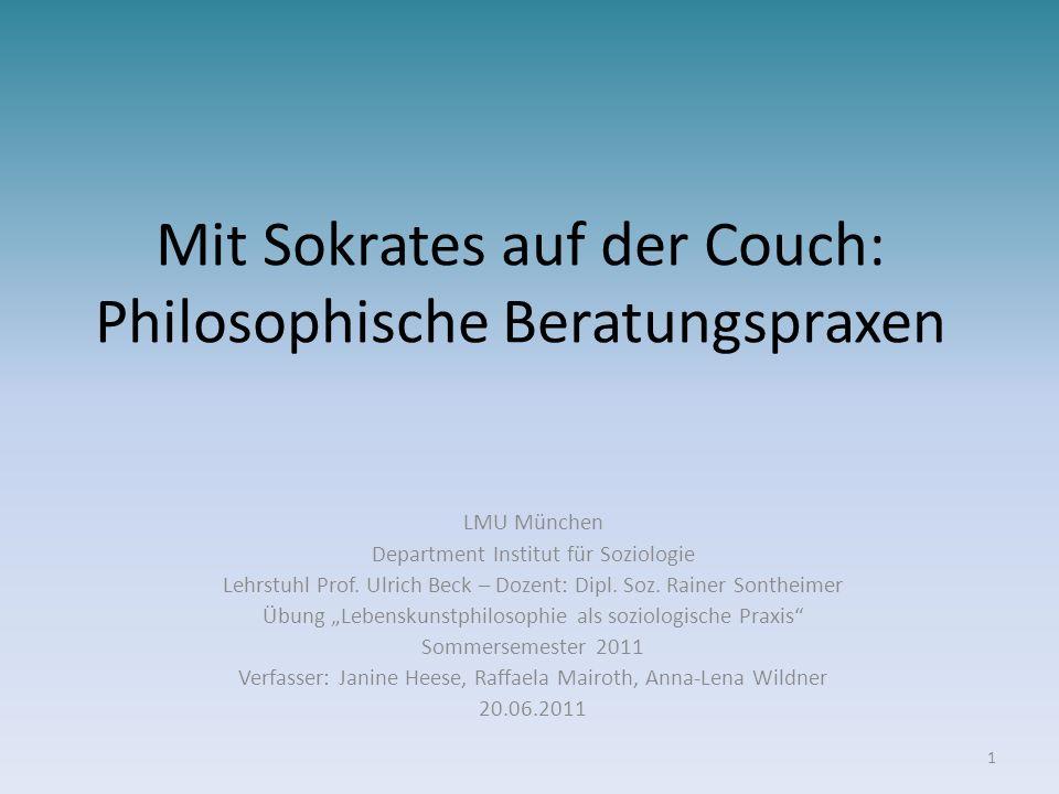 Mit Sokrates auf der Couch: Philosophische Beratungspraxen