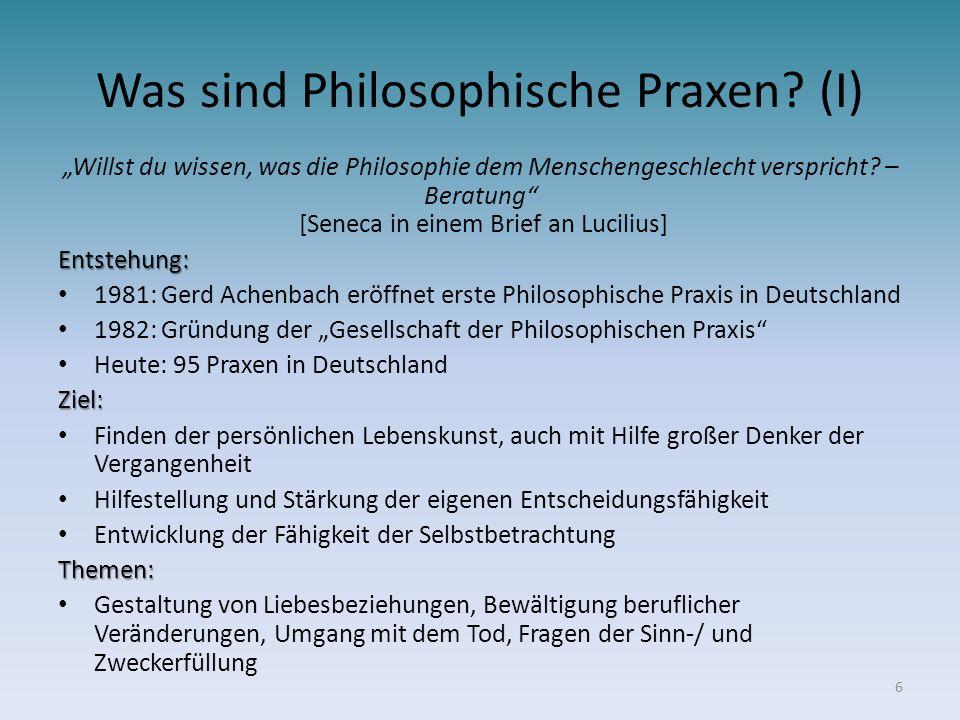 Was sind Philosophische Praxen (I)