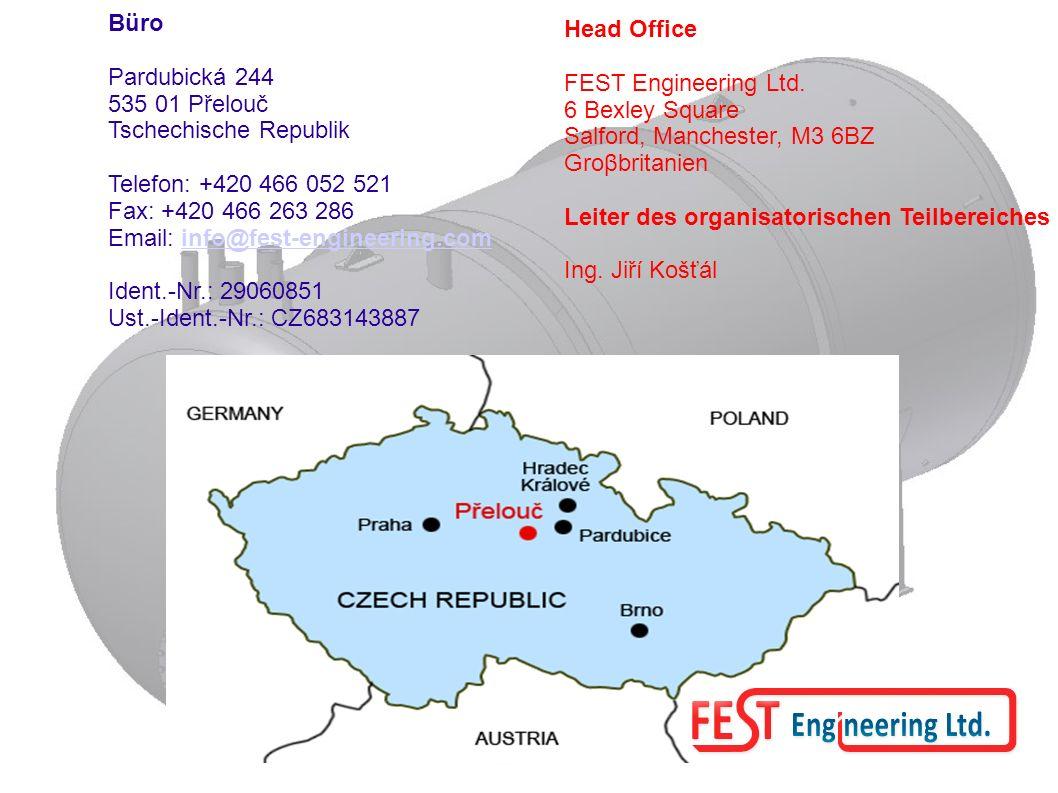 Büro Pardubická 244. 535 01 Přelouč. Tschechische Republik. Telefon: +420 466 052 521. Fax: +420 466 263 286.