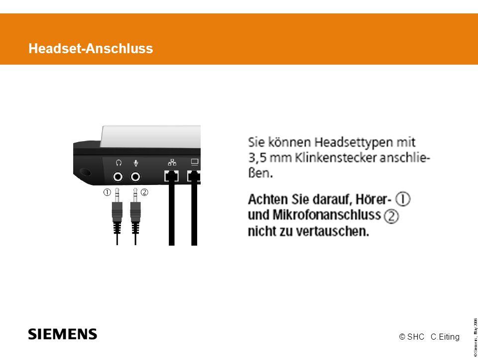 Headset-Anschluss © SHC C.Eiting