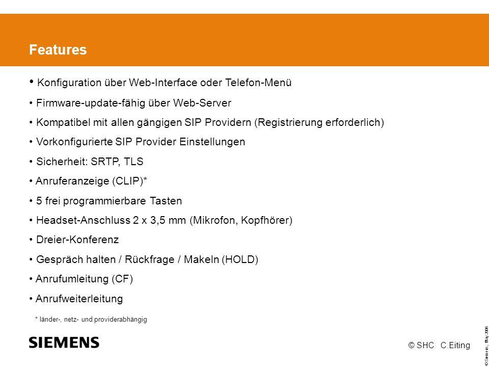 Konfiguration über Web-Interface oder Telefon-Menü