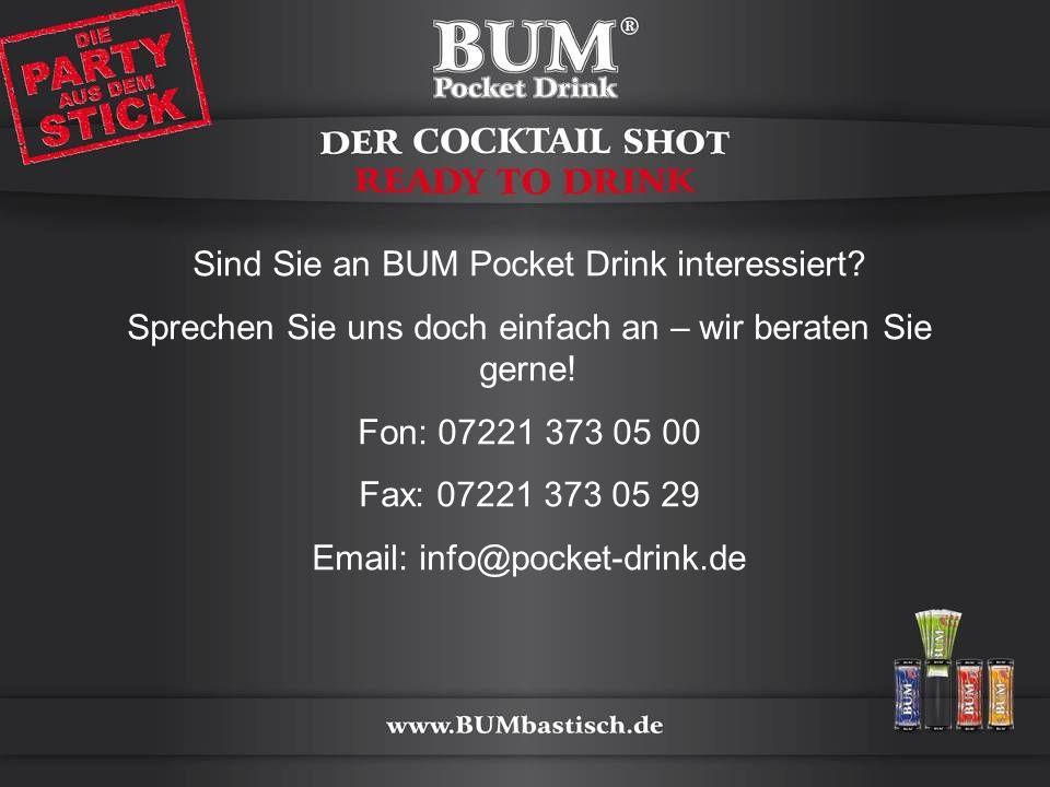 Sind Sie an BUM Pocket Drink interessiert