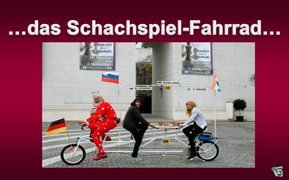 …das Schachspiel-Fahrrad…