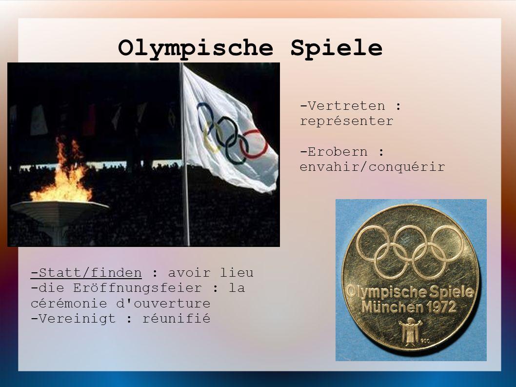 Olympische Spiele -Vertreten : représenter