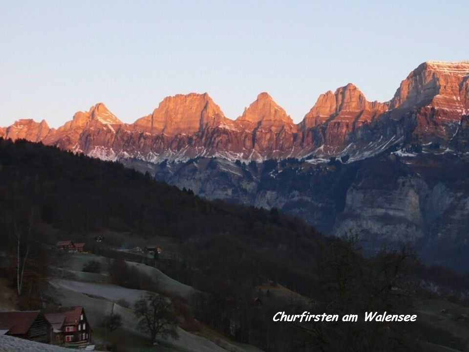 Churfirsten am Walensee