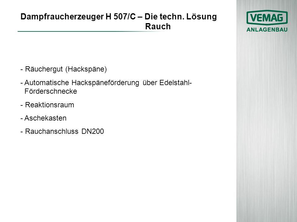 Dampfraucherzeuger H 507/C – Die techn. Lösung Rauch
