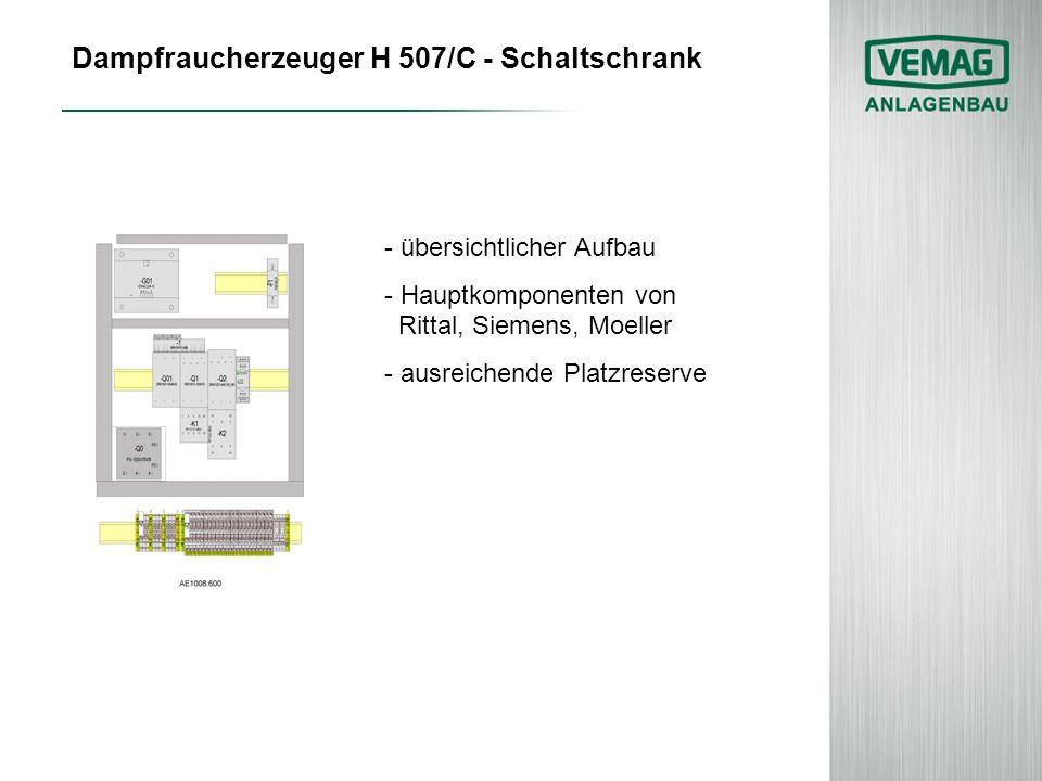 Dampfraucherzeuger H 507/C - Schaltschrank