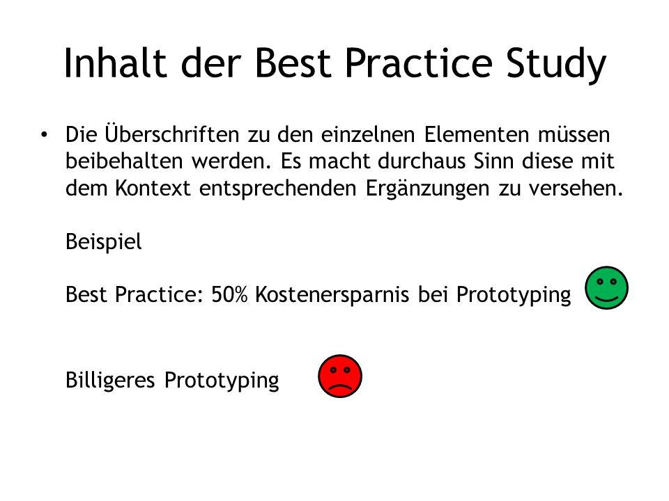 Inhalt der Best Practice Study
