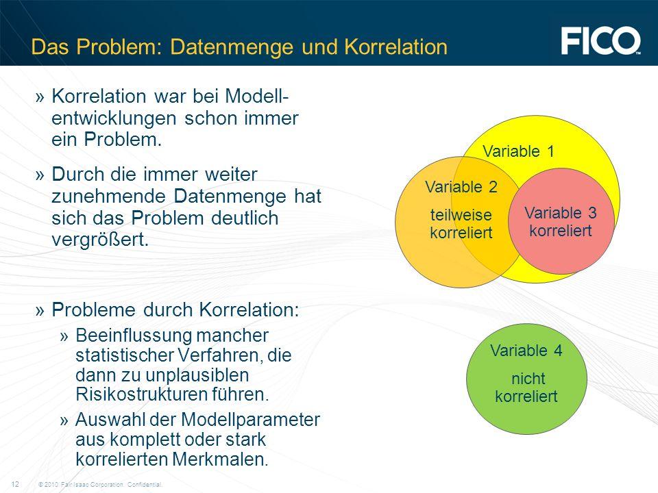Das Problem: Datenmenge und Korrelation