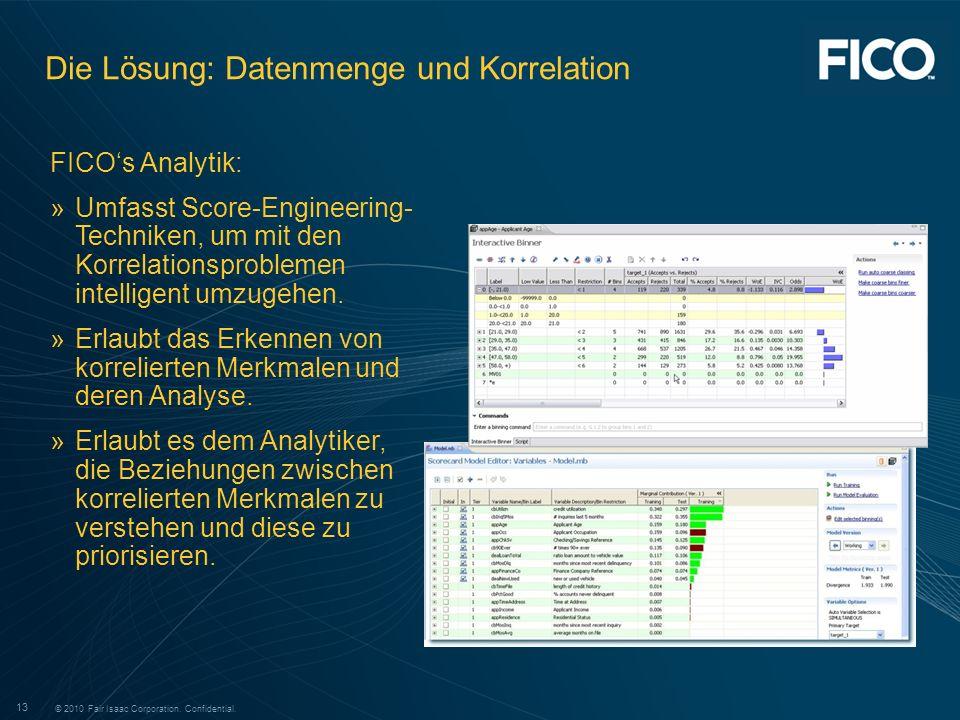 Die Lösung: Datenmenge und Korrelation