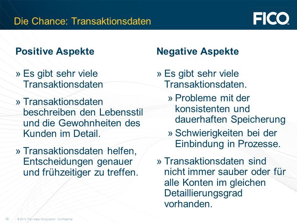 Die Chance: Transaktionsdaten