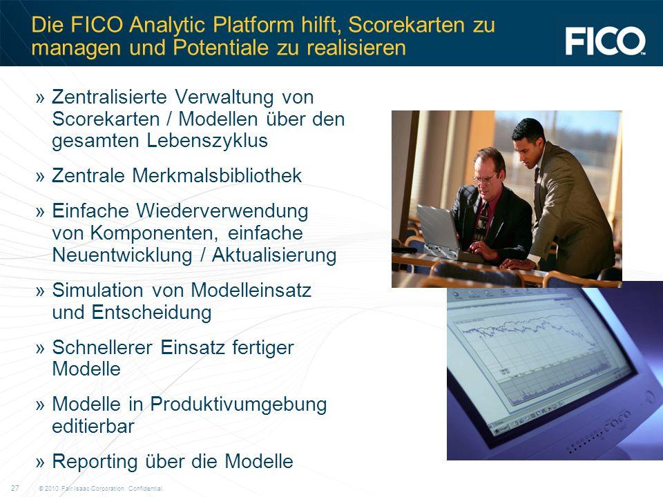 Die FICO Analytic Platform hilft, Scorekarten zu managen und Potentiale zu realisieren