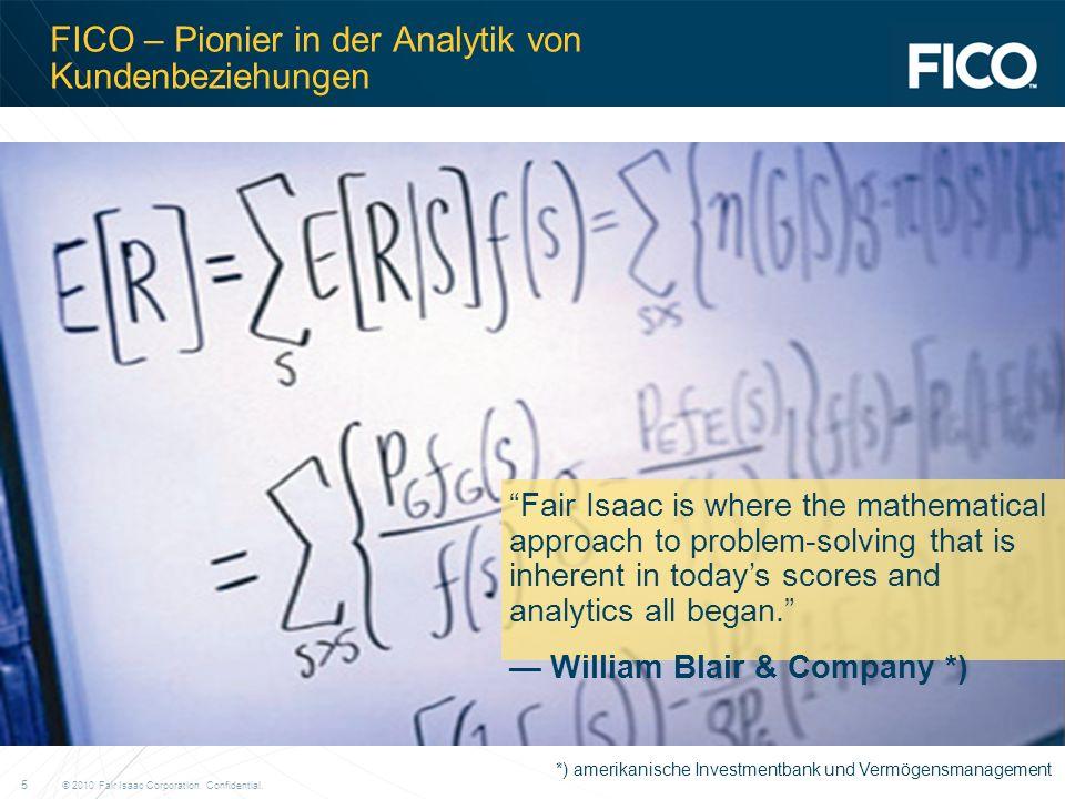 FICO – Pionier in der Analytik von Kundenbeziehungen