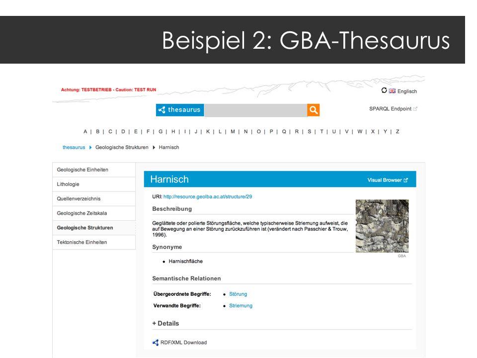 Beispiel 2: GBA-Thesaurus