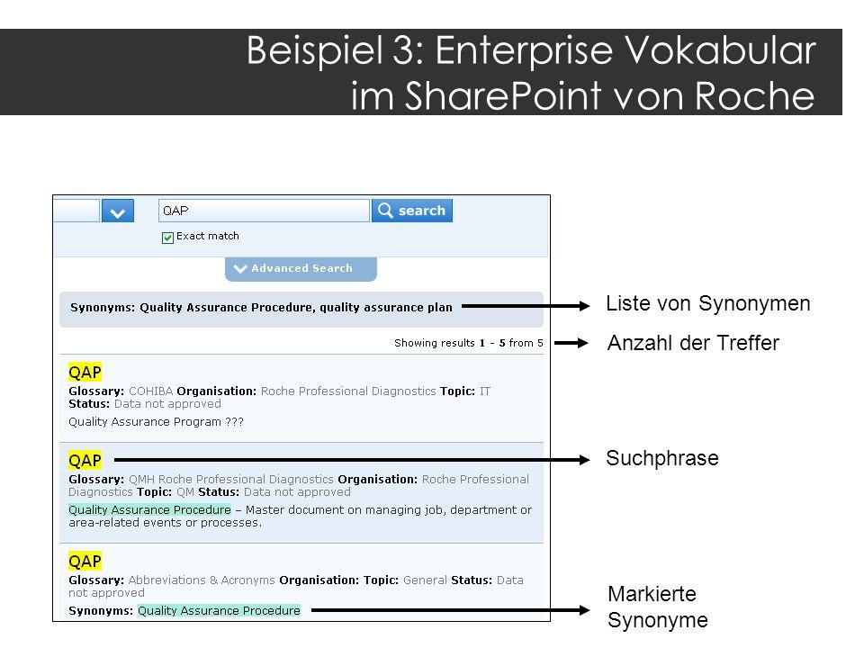 Beispiel 3: Enterprise Vokabular im SharePoint von Roche