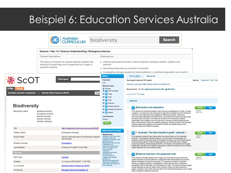 Beispiel 6: Education Services Australia