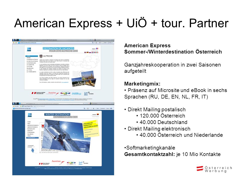 American Express + UiÖ + tour. Partner