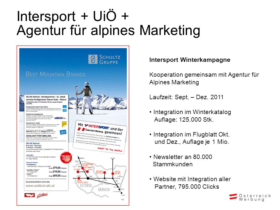 Intersport + UiÖ + Agentur für alpines Marketing