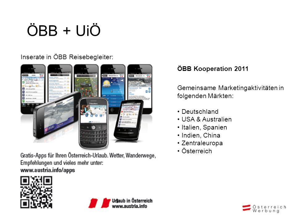 ÖBB + UiÖ Inserate in ÖBB Reisebegleiter: ÖBB Kooperation 2011