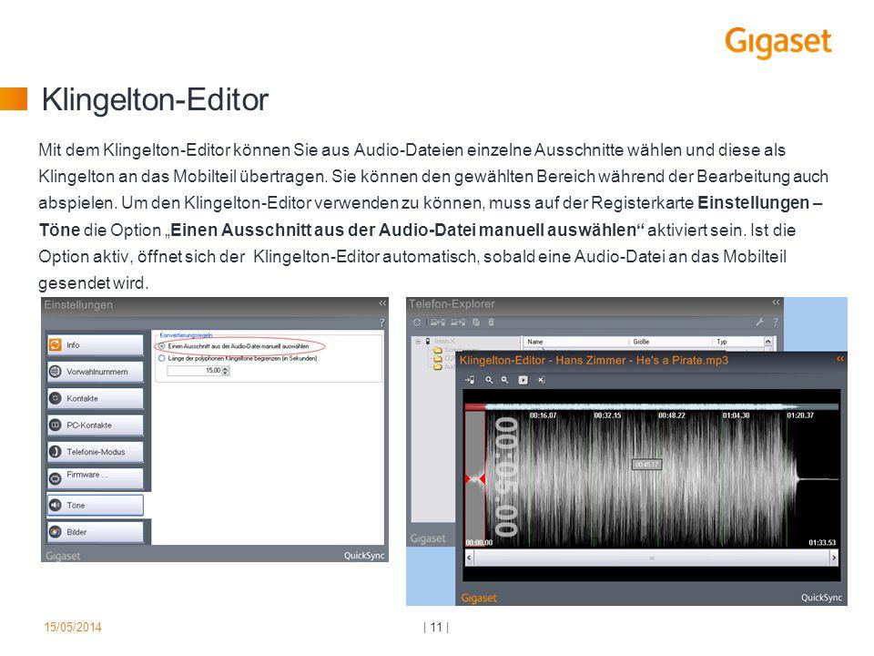 Klingelton-Editor