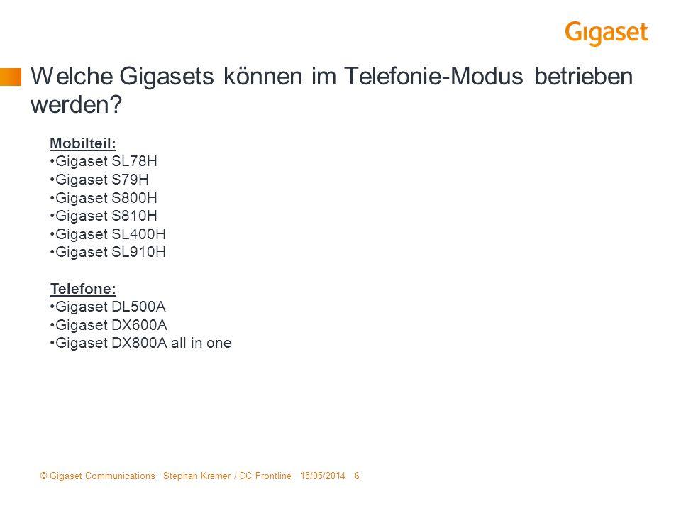 Welche Gigasets können im Telefonie-Modus betrieben werden