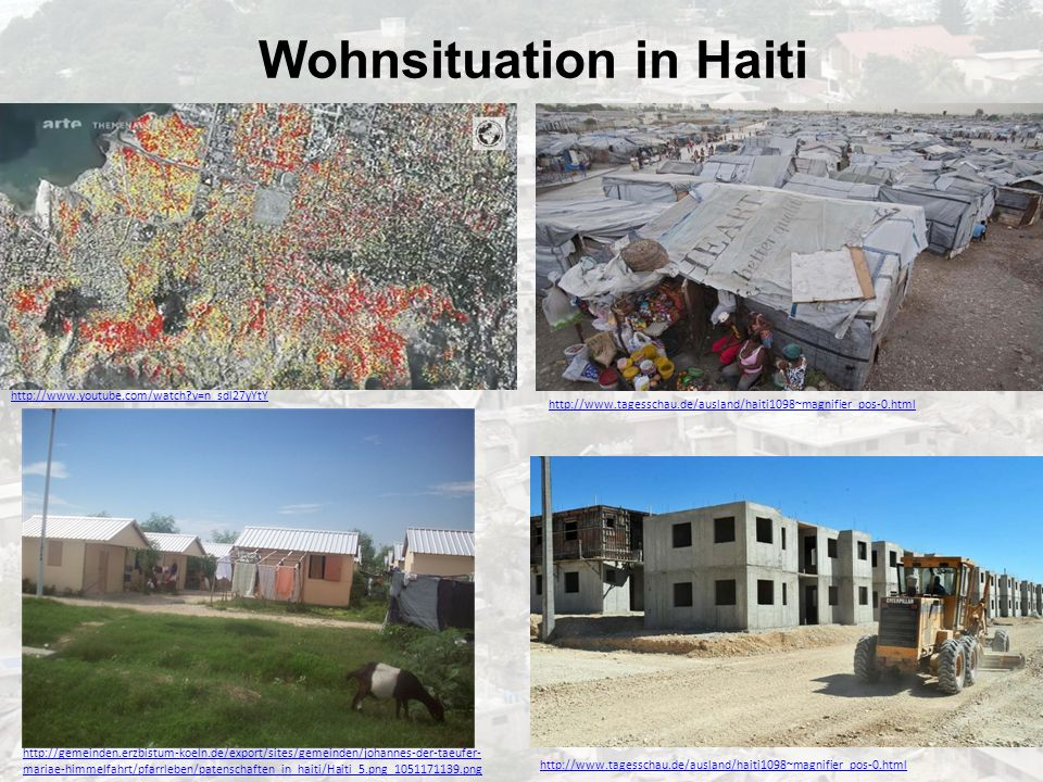 Wohnsituation in Haiti