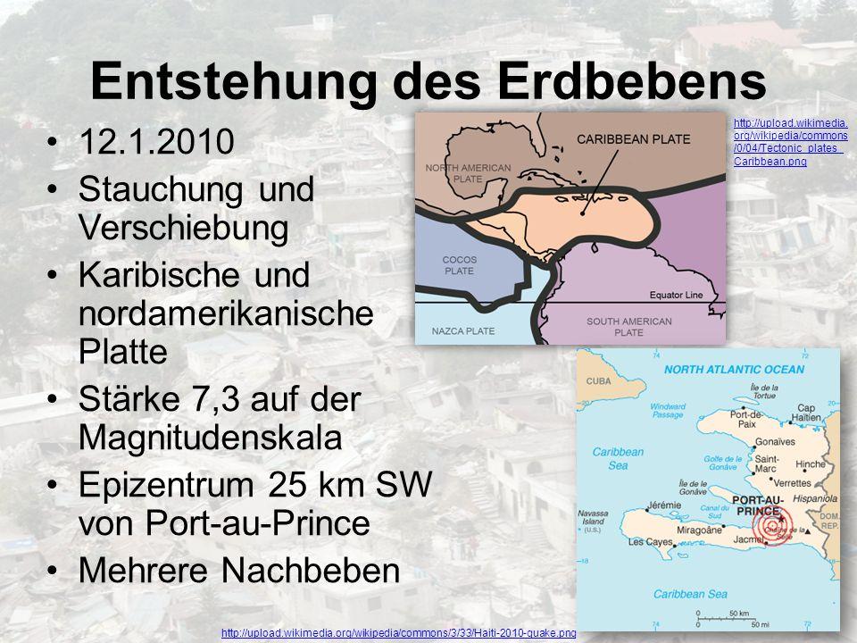 Entstehung des Erdbebens