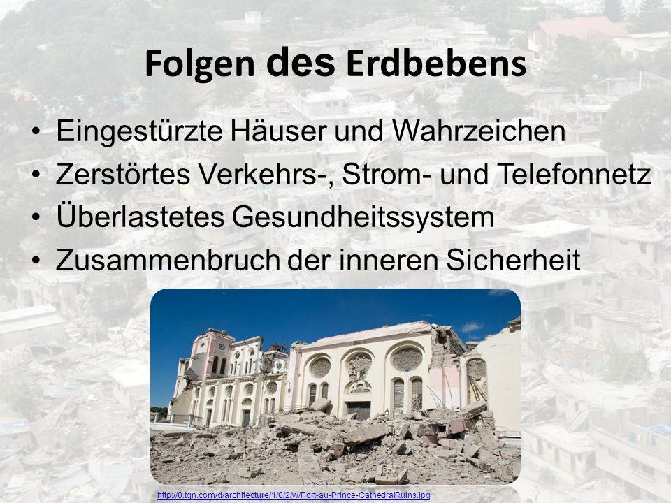 Folgen des Erdbebens Eingestürzte Häuser und Wahrzeichen