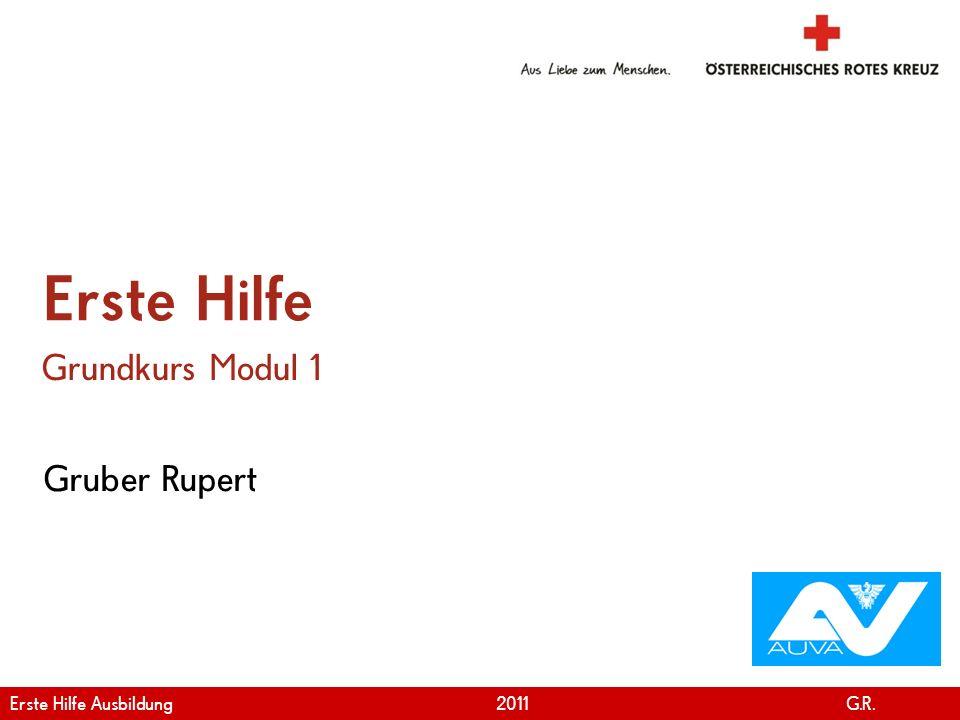 Erste Hilfe Grundkurs Modul 1 Gruber Rupert