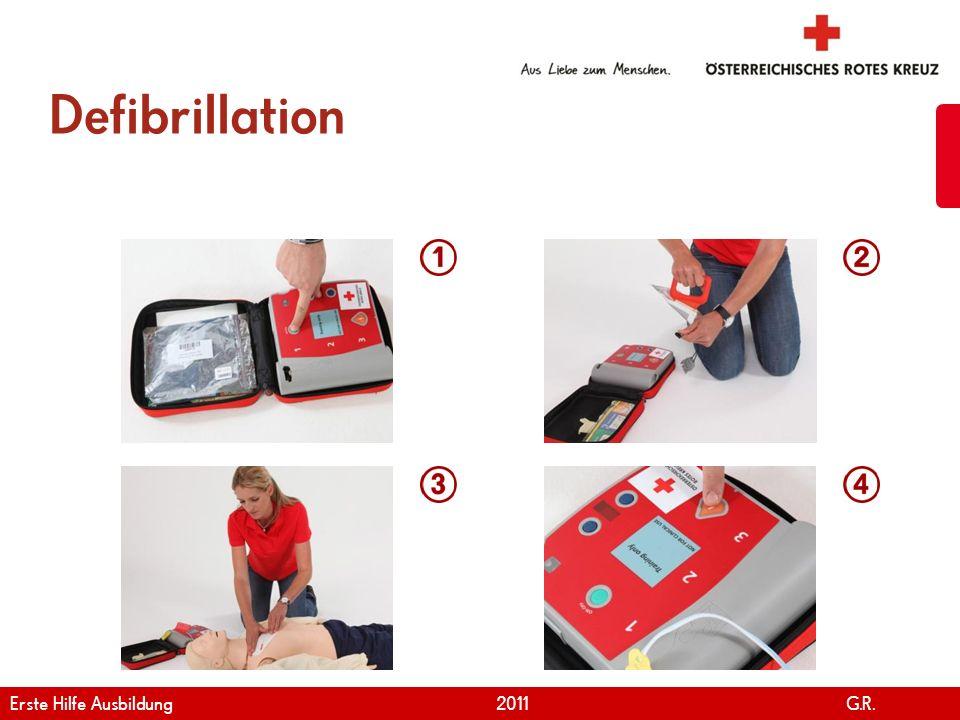 Defibrillation Erste Hilfe Ausbildung 2011 G.R.