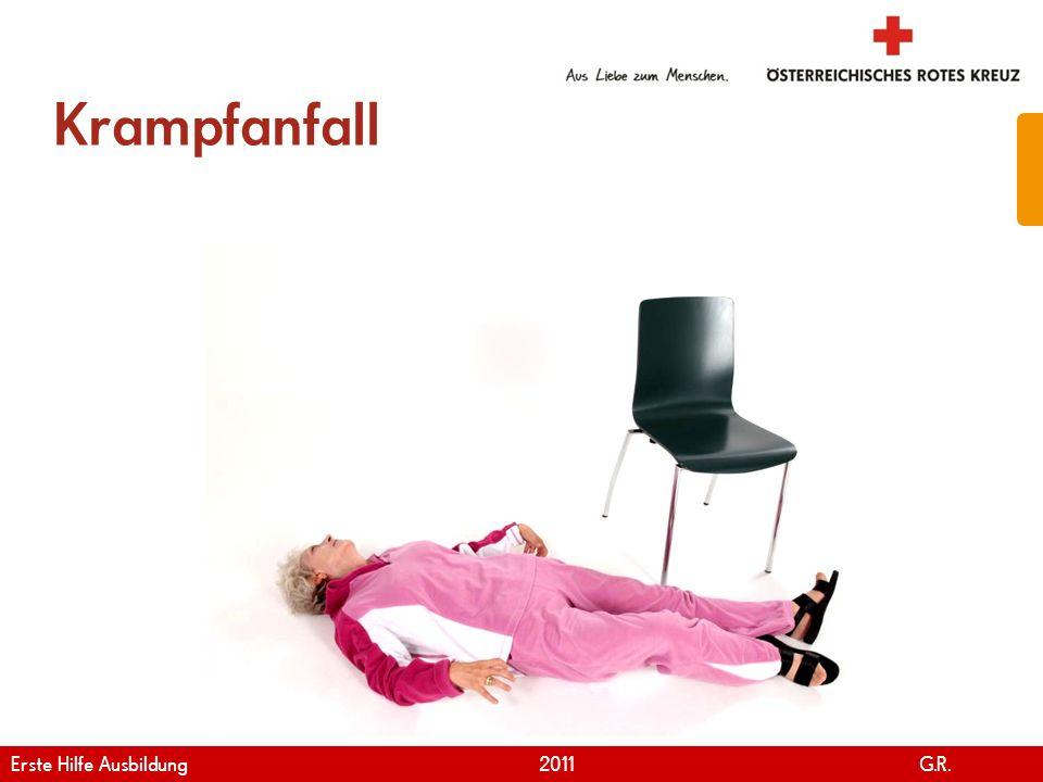 Krampfanfall Erste Hilfe Ausbildung 2011 G.R.