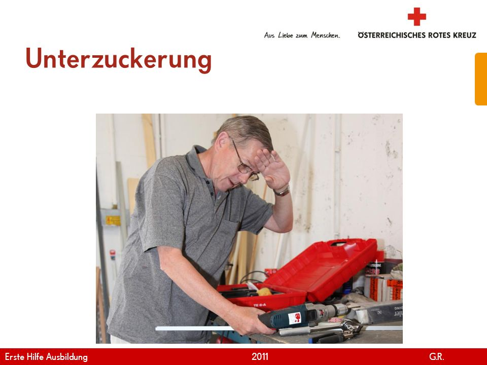 Unterzuckerung Erste Hilfe Ausbildung 2011 G.R.