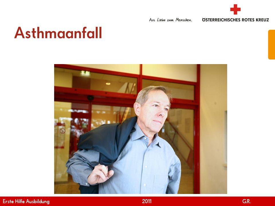 Asthmaanfall Erste Hilfe Ausbildung 2011 G.R.