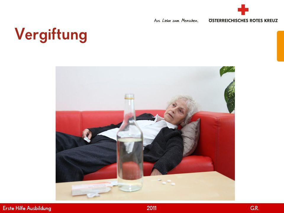 Vergiftung Erste Hilfe Ausbildung 2011 G.R.