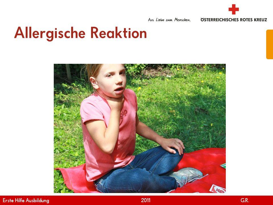 Allergische Reaktion Erste Hilfe Ausbildung 2011 G.R.