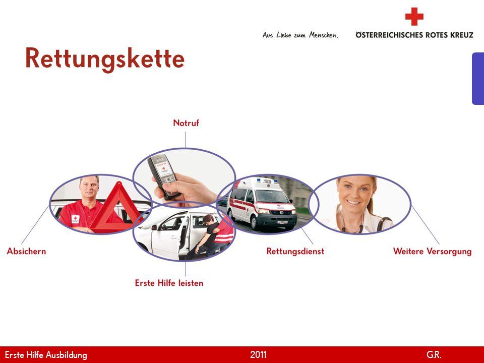 Rettungskette Erste Hilfe Ausbildung 2011 G.R.
