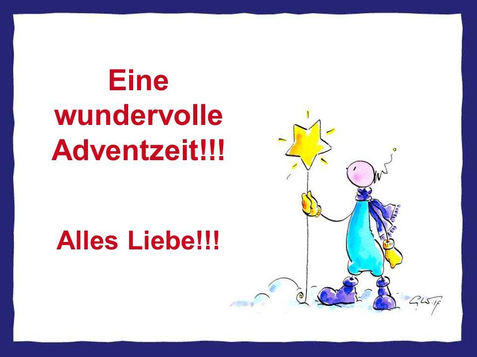 Eine wundervolle Adventzeit!!!