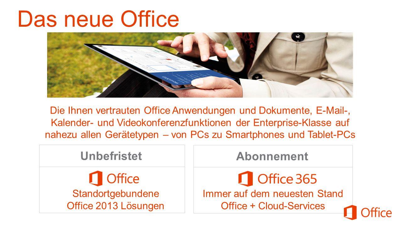Das neue Office Unbefristet Abonnement
