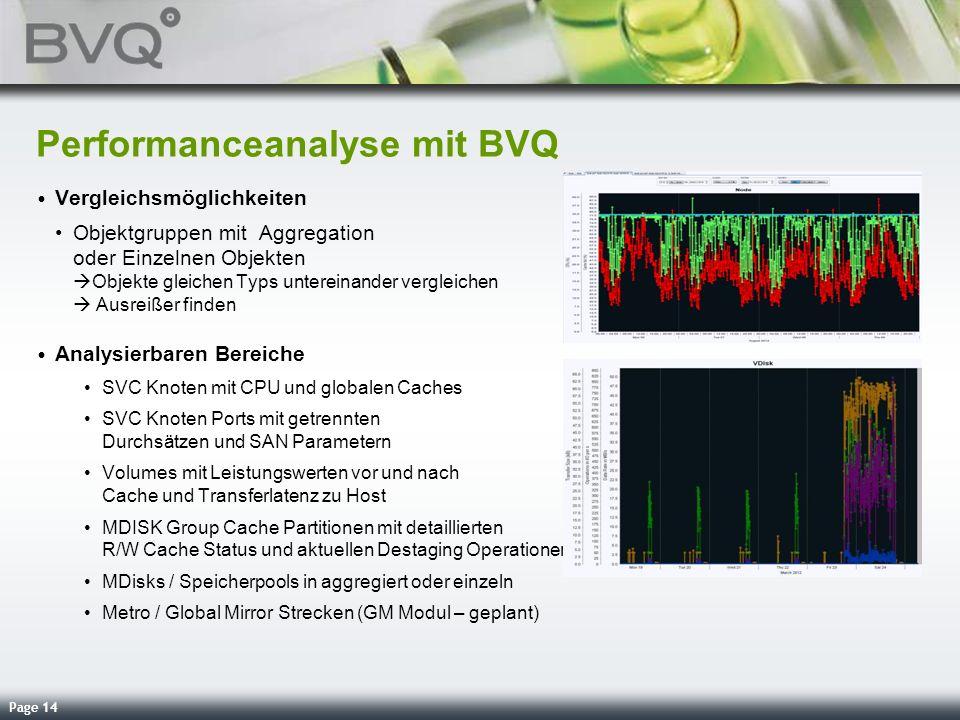 Performanceanalyse mit BVQ