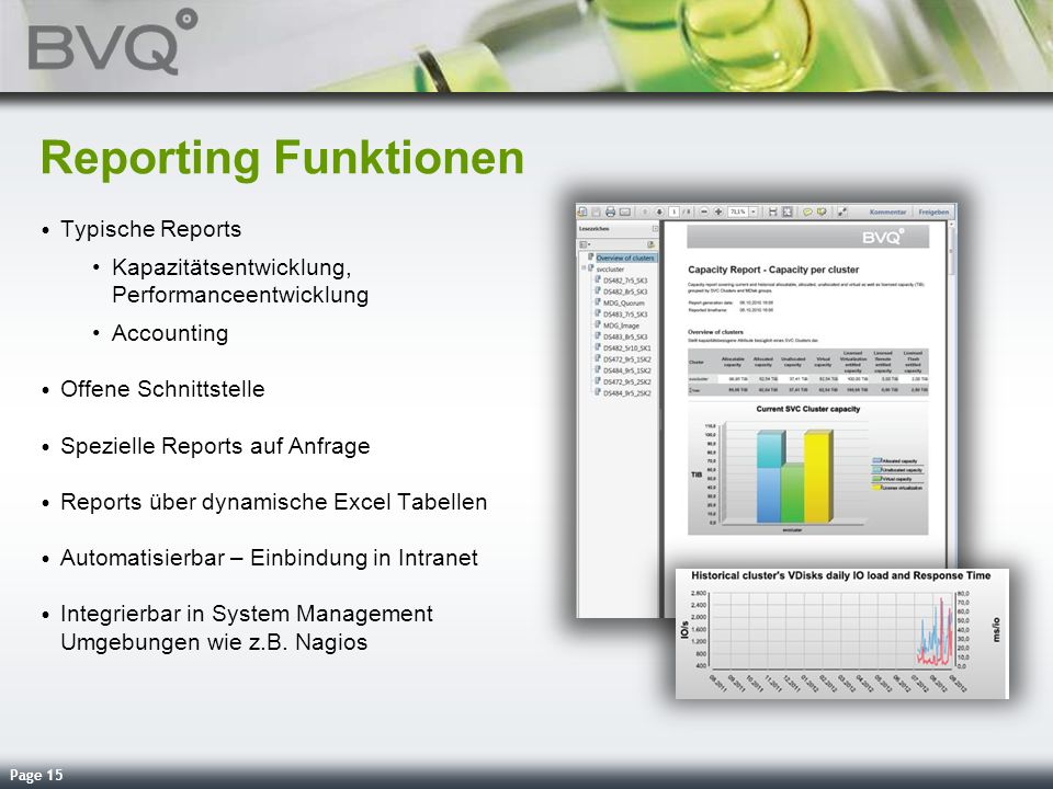 Reporting Funktionen Typische Reports