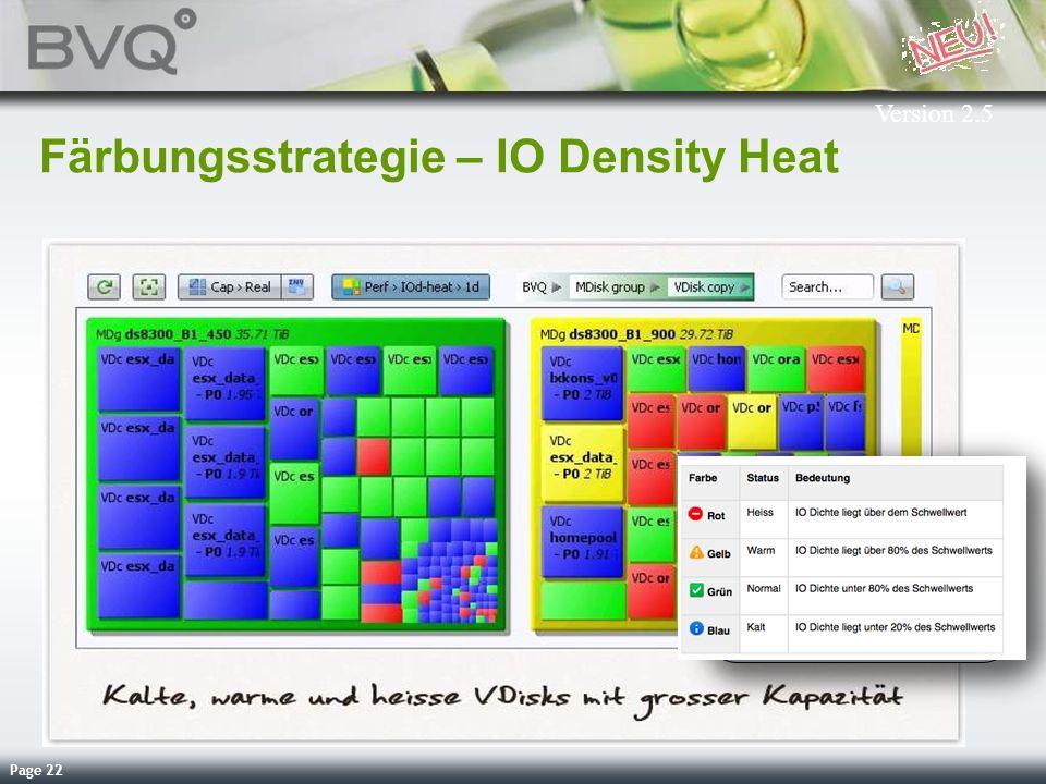 Färbungsstrategie – IO Density Heat