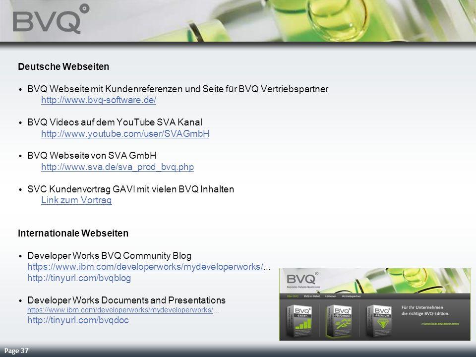Deutsche Webseiten BVQ Webseite mit Kundenreferenzen und Seite für BVQ Vertriebspartner http://www.bvq-software.de/