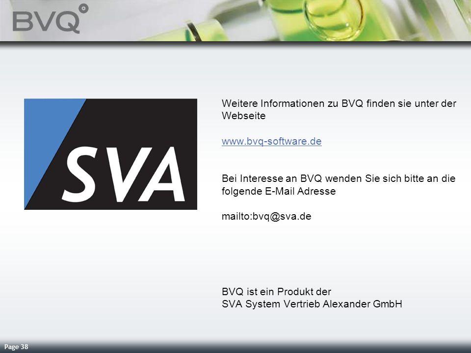 Weitere Informationen zu BVQ finden sie unter der Webseite www