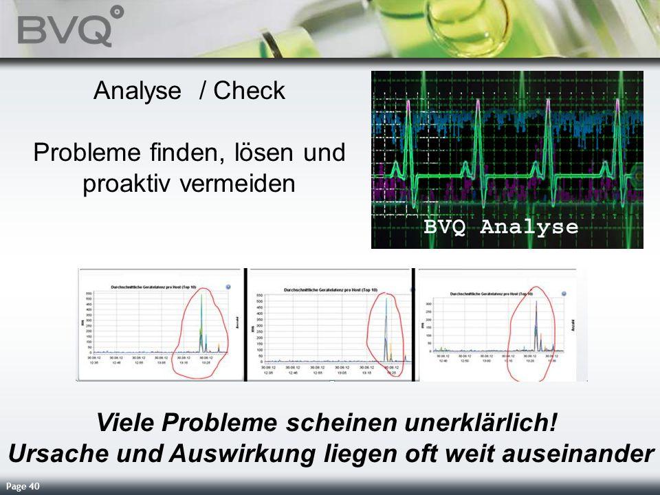 Analyse / Check Probleme finden, lösen und proaktiv vermeiden