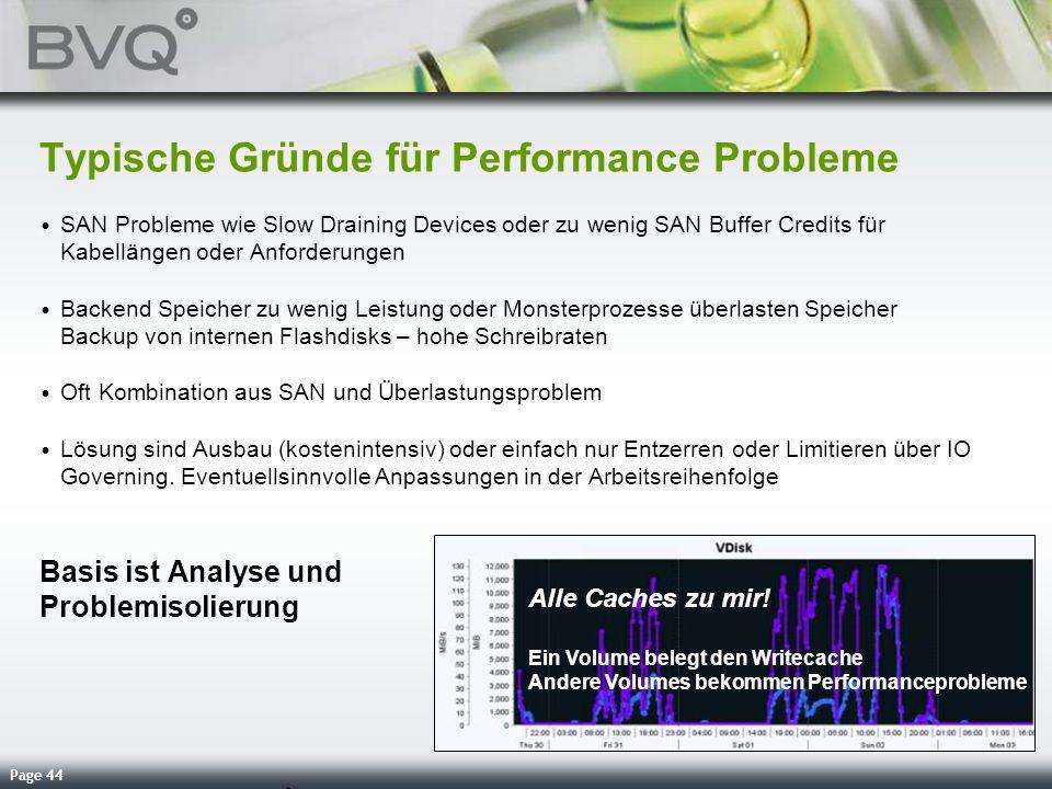 Typische Gründe für Performance Probleme