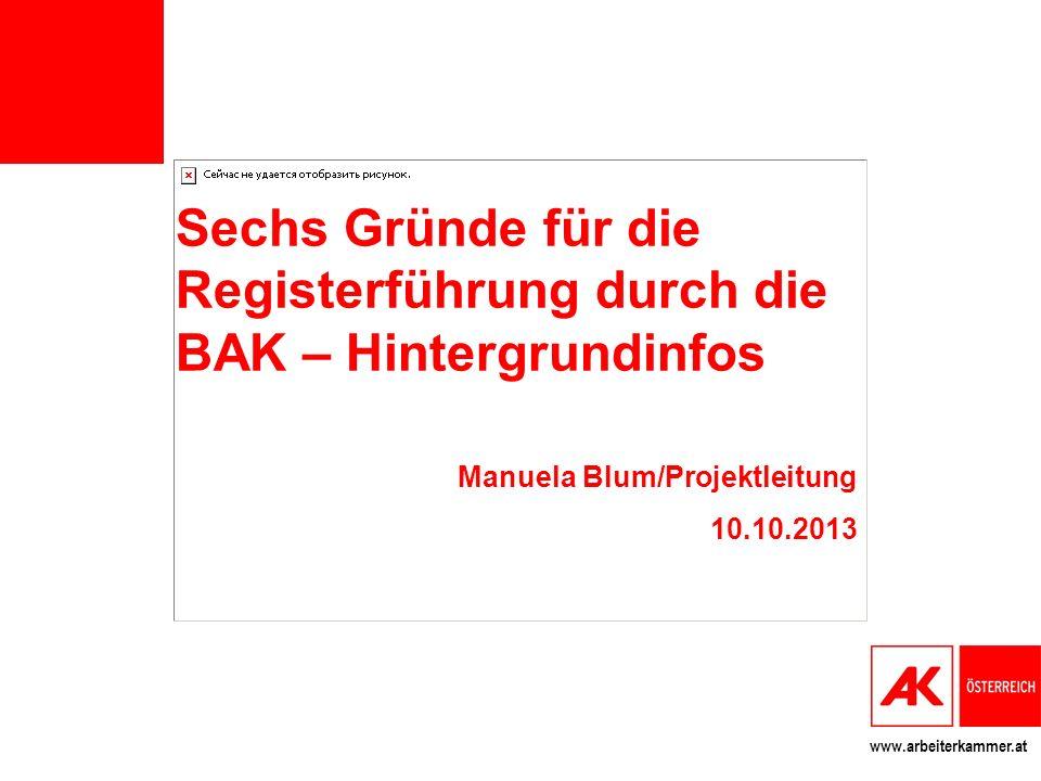 Sechs Gründe für die Registerführung durch die BAK – Hintergrundinfos